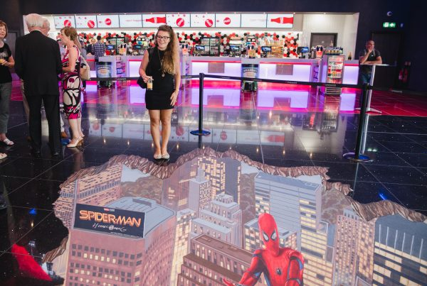 Cineworld South Ruislip Grand Opening Spider-Man Homecoming 3D art