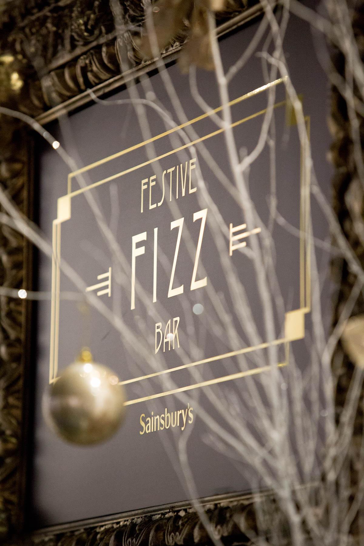 Bar at Sainsbury's Festive Fizz Bar Pop-Up