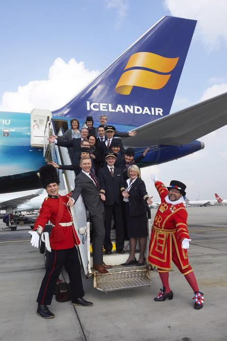 British, VIPs, inaugural flight