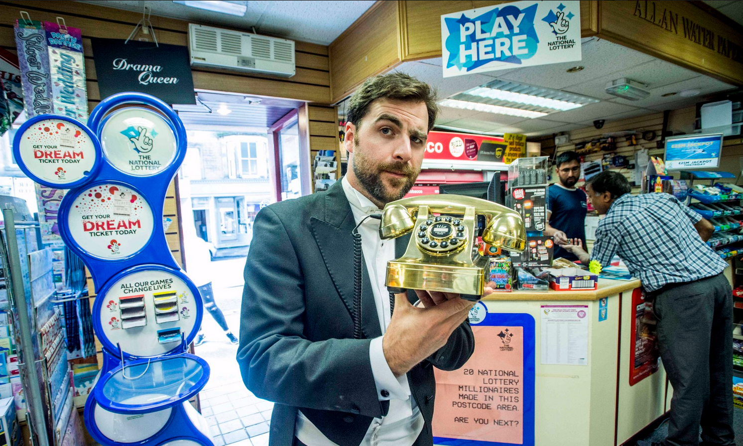 Camelots butlers treated members of the public to every day items to show them how lucky they could really be